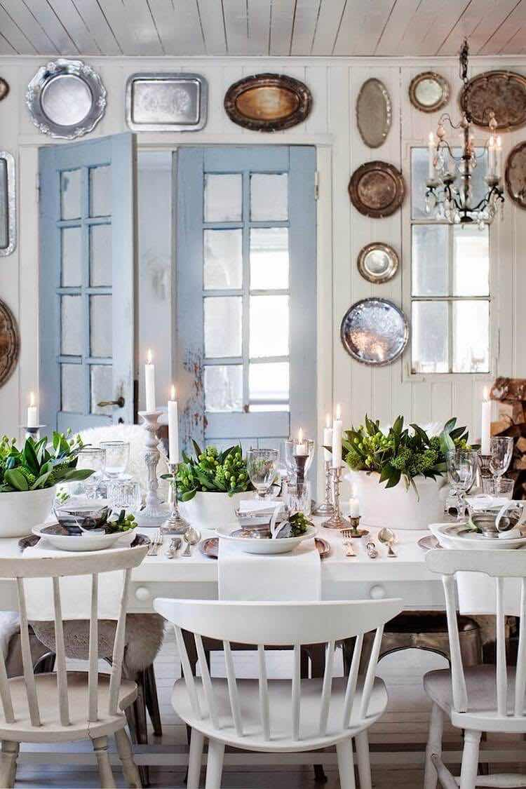 decorar con platos antiguos