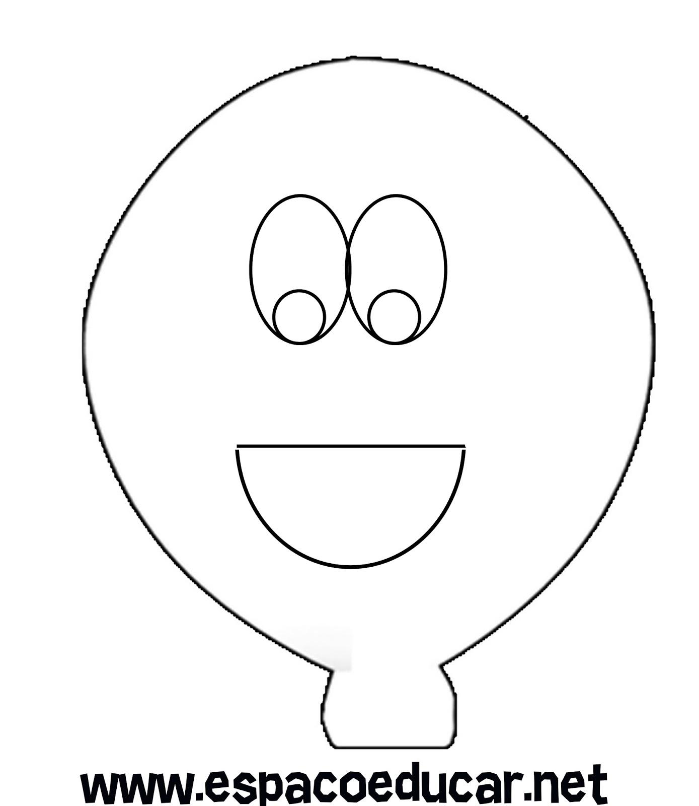 Molde De Balão Em Eva Para Montar Painel De Aniversariantes Ou