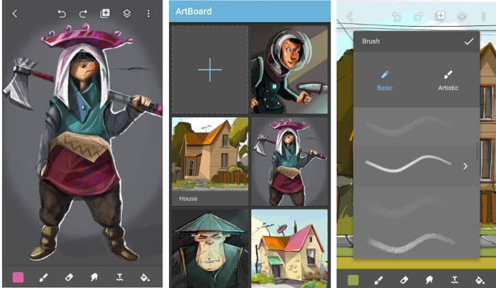 Artboard is a powerful easy-to-use drawing application