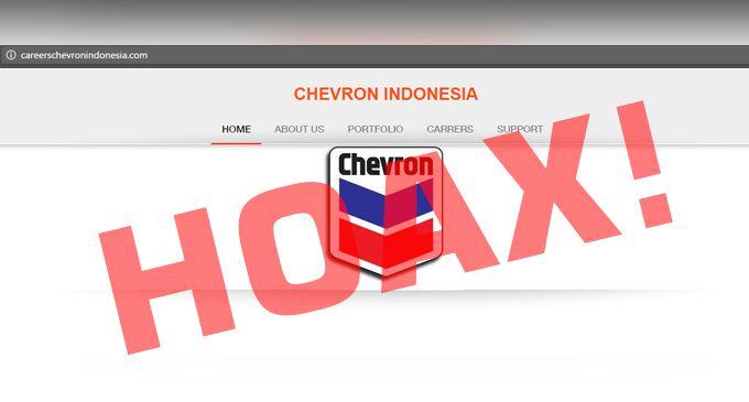 HATI-HATI! PENIPUAN Lowongan Kerja PT Chevron Indonesia