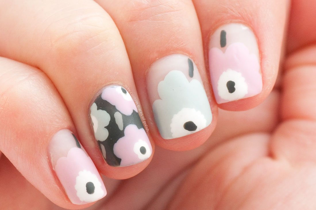 Marimekko Unikko Nail Art