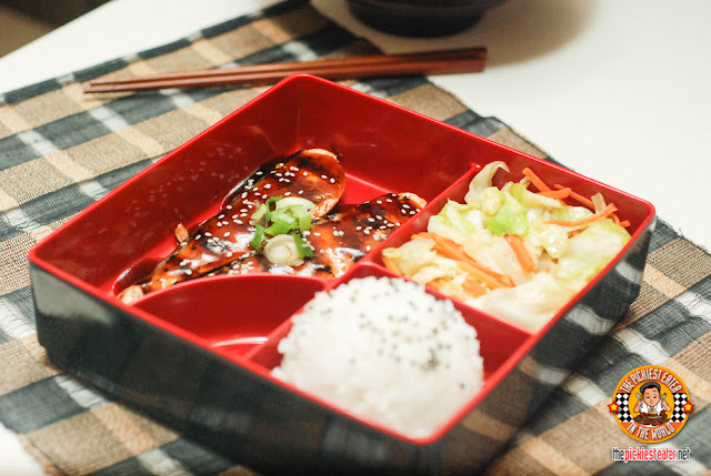 Grilled Salmon Teriyaki Bento