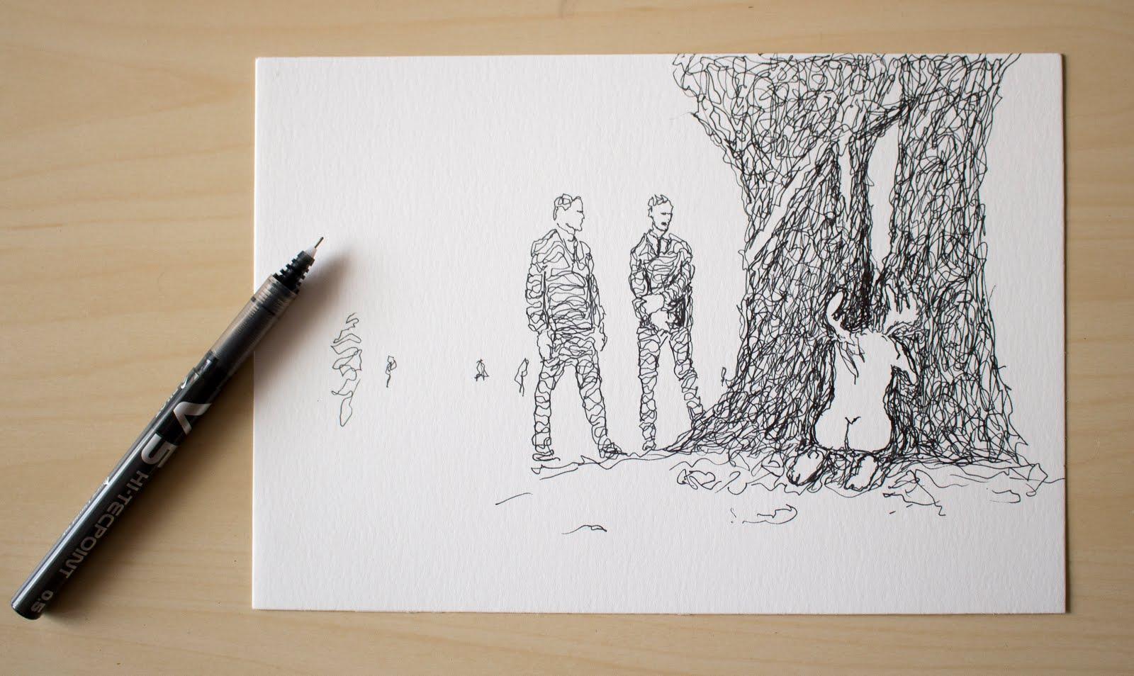 Ilustración creada por Pelayo Rodríguez sobre True Detective