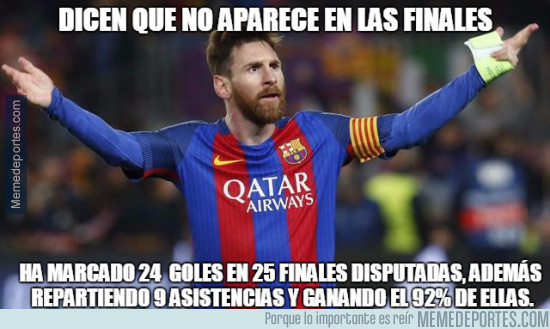 Leo Messi experto en ganar finales