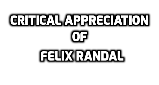 "Write the critical appreciation of "" Felix Randal"" by G.M Hopkins"