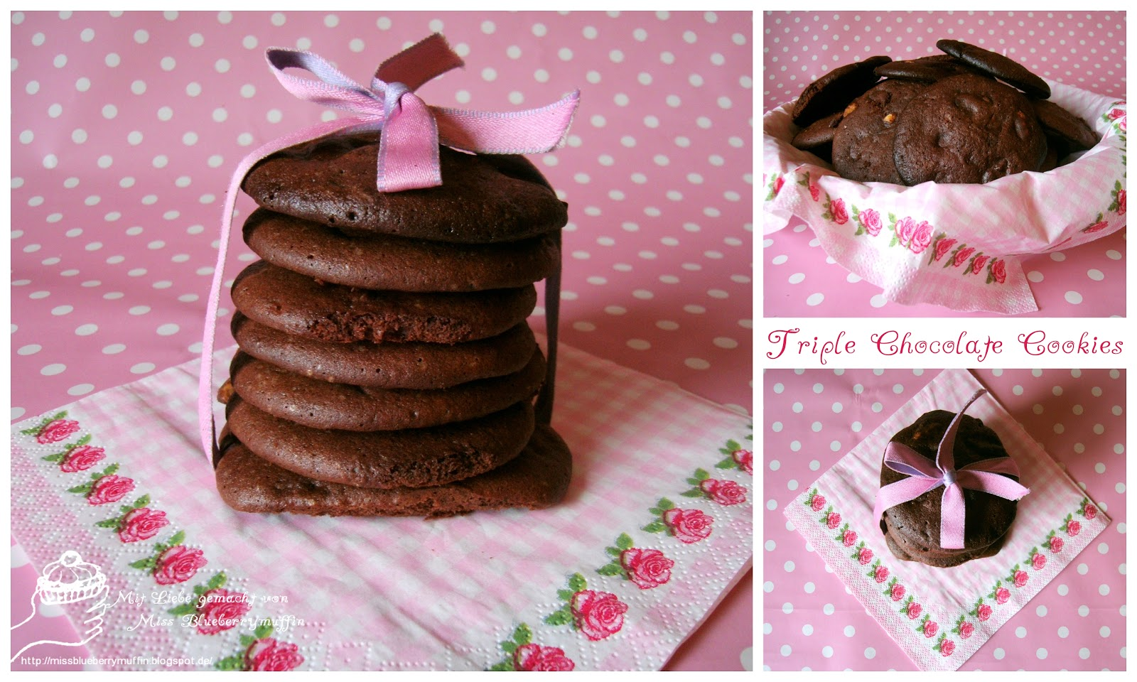 Cookie Nachtisch Miss Blueberrymuffin S Kitchen Triple Chocolate Cookies