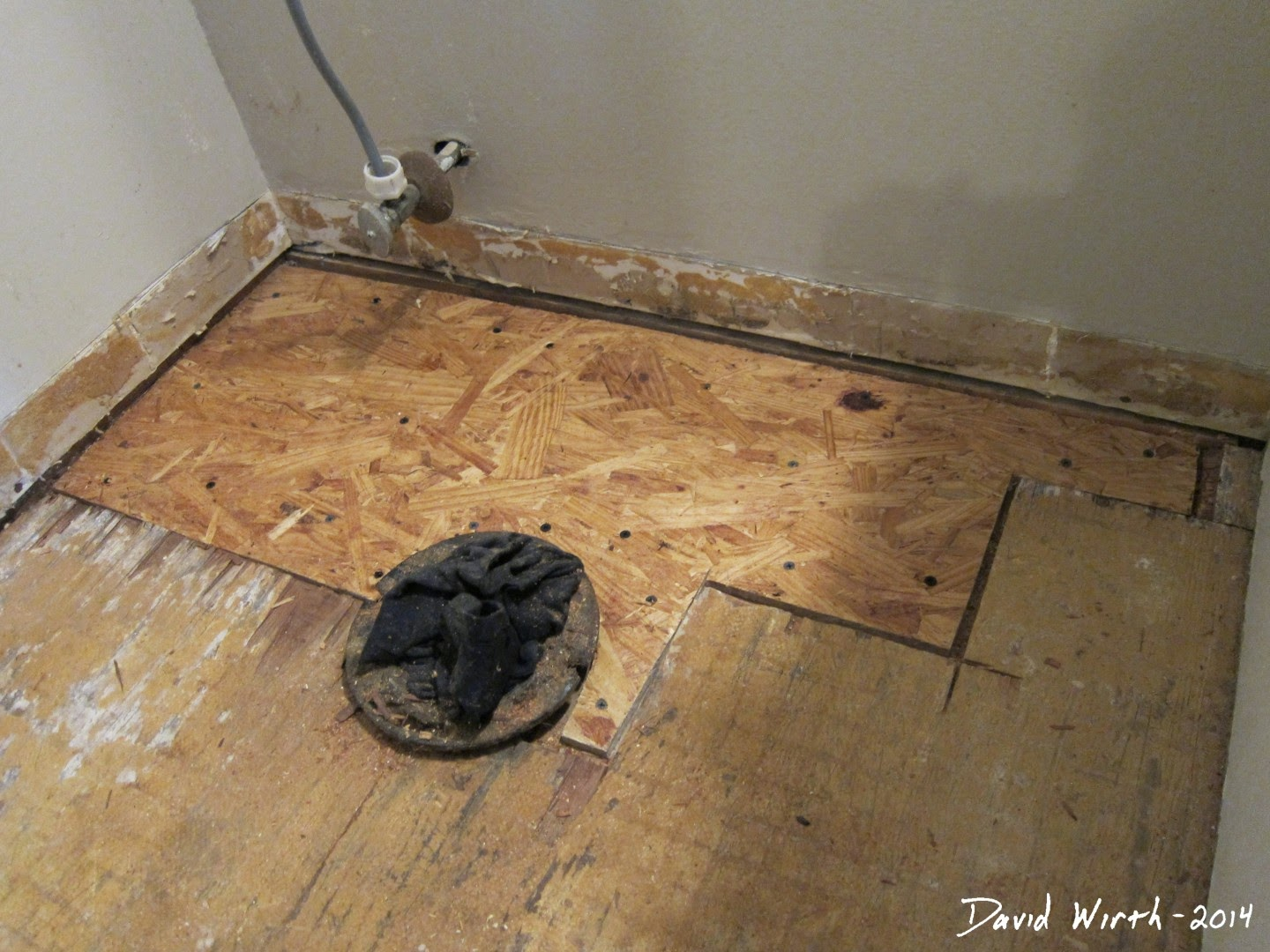how to repair rotted floor, wood, fix, bathroom, tile