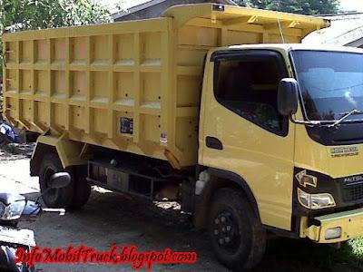 Mobil Dump Truck Canter Warna Kuning