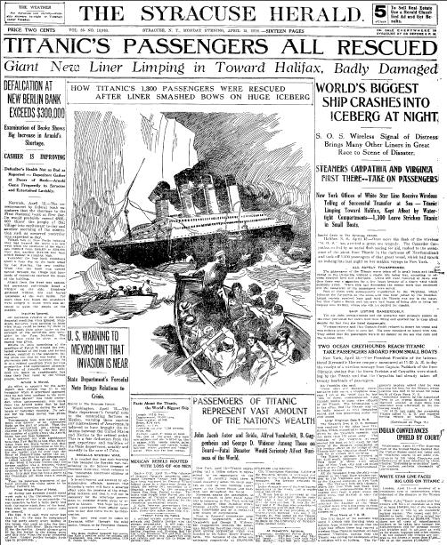 Rescatados todos los pasajeros del Titanic