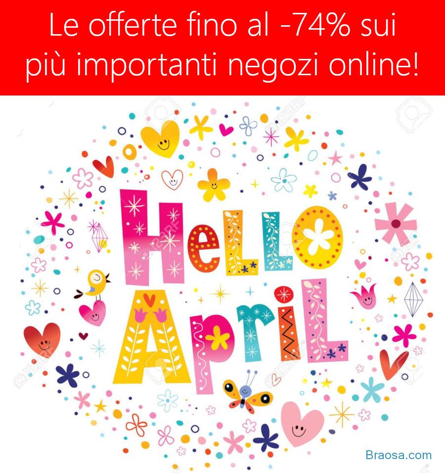 Offerte e coupon promozionali di aprile sui più importanti negozi online