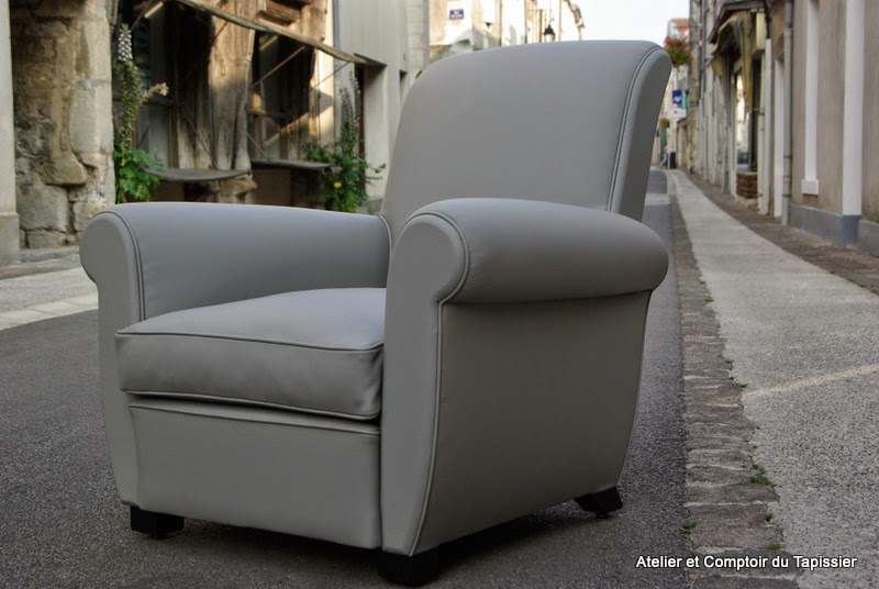 atelier et comptoir du tapissier fauteuil club. Black Bedroom Furniture Sets. Home Design Ideas