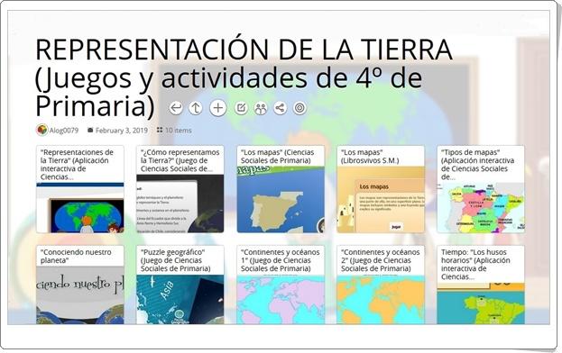 """""""10 juegos y actividades sobre la REPRESENTACIÓN DE LA TIERRA en 4º de Primaria"""""""