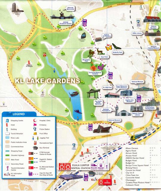 Mapa turístico de Kuala Lumpur