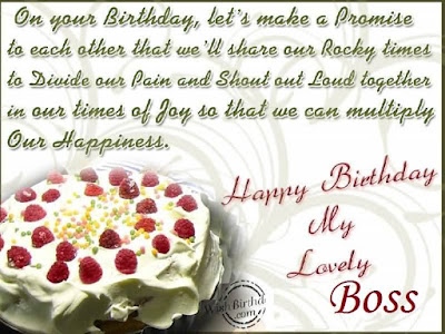 Happy Birthday wishes For Boss: on your birthday, let's make a promise