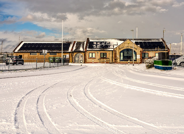 Photo of Maryport Marina in the snow