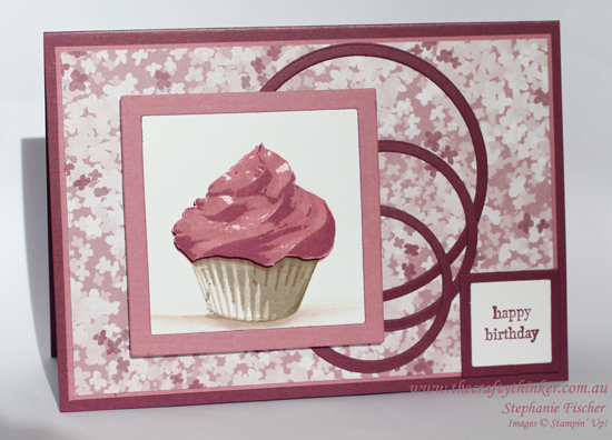 Stampin Up, #thecraftythinker, Sweet Cupcake, Circles & squares, Stampin Up Australia Demonstrator