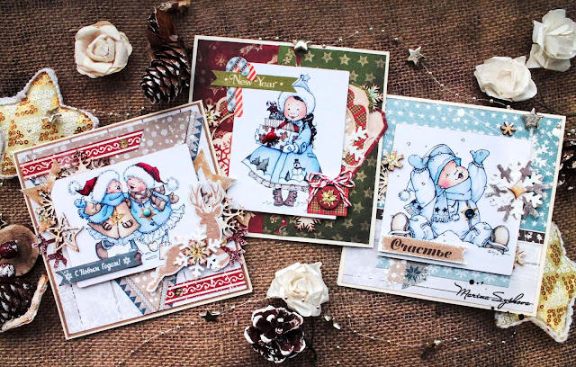 [ Xmas cards =) ] @marinasyskova @scrapbooking #card #cardmaking