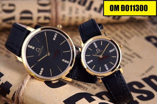 Đồng hồ cặp đôi dây da OM Đ011300
