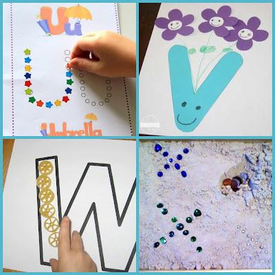 letter u, letter v, letter w, letter x