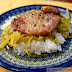 Cabin Casserole (I know!  How cute is this name?) aka Pork Chops Baked with Curried Green Tomatoes