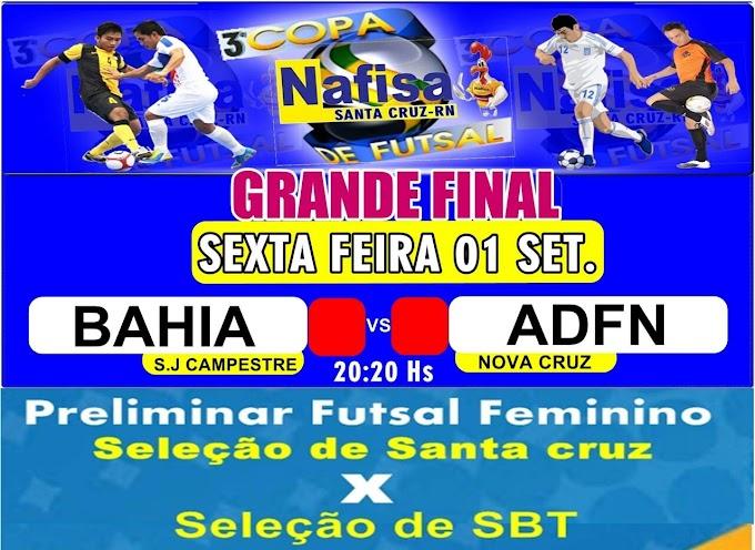 Grande final da copa Nafisa de futsal em Santa Cruz