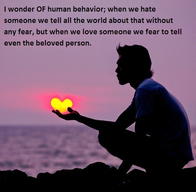 I Wonder Of Human Behavior Quotes And Sayings