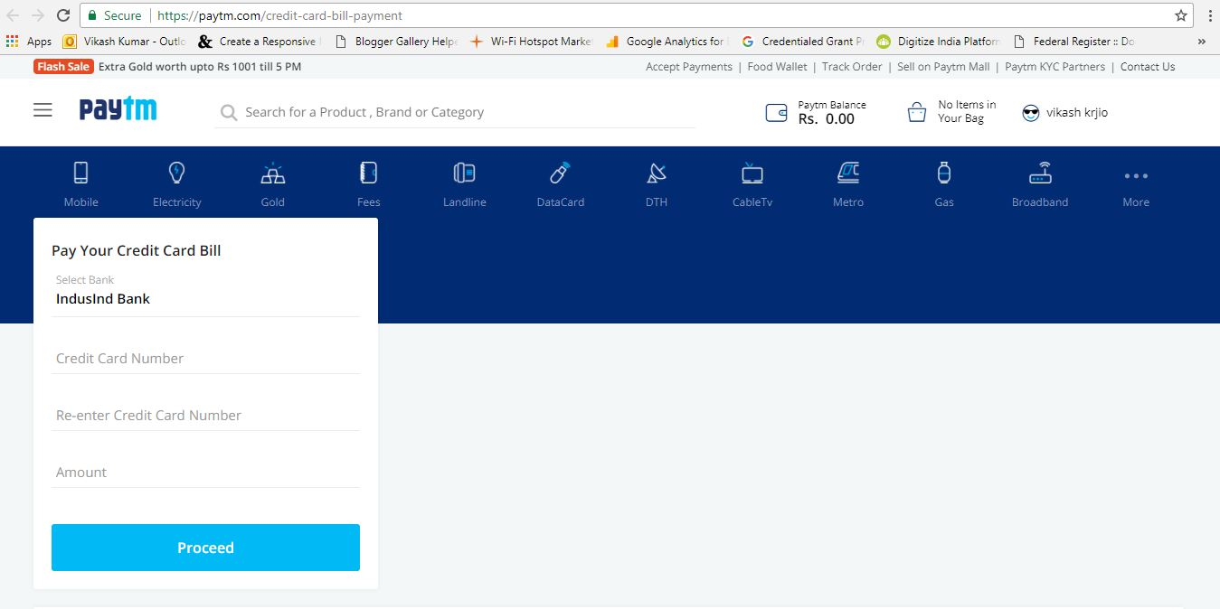 How to pay credit cards bill using Paytm Wallet