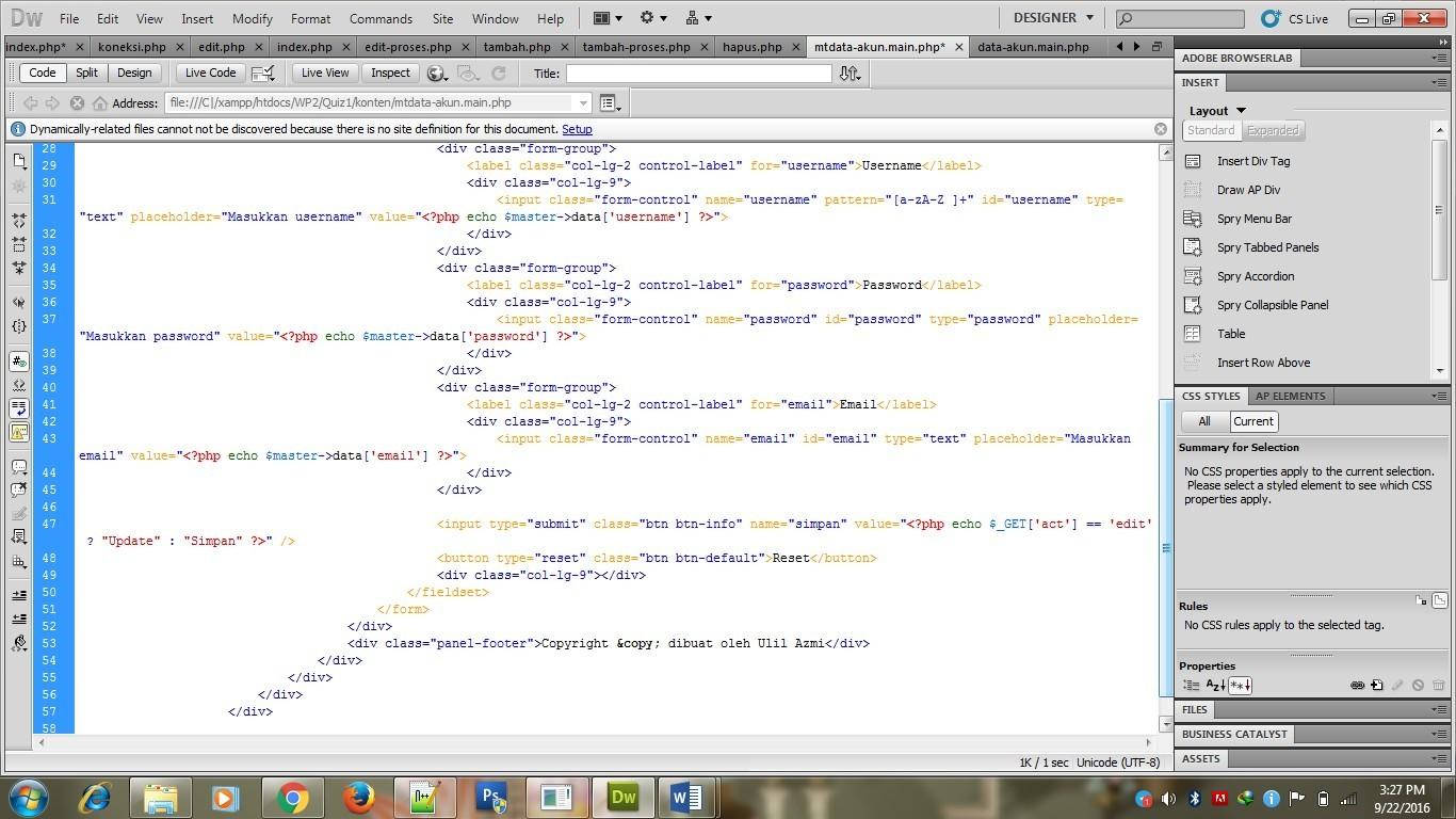 Membuat CRUD dengan PHP MySQLi ~ Ulil Azmi's blog