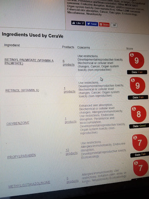 Photo of CeraVe based on EWG Database: Not Safe