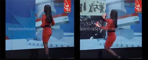 مذيعه لبنانيه  تفقد الوعي أثناء تقديم النشرة وتسقط  على الهواء مباشرة