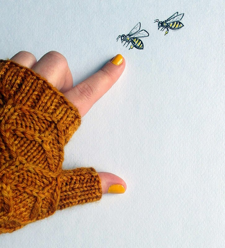 Beeswax mitts