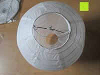 """von oben: LIHAO 8"""" weiße runde Papier Laterne Lampion Lampenschirm Hochtzeit Party Dekoration Ballform - (10er Packung)"""