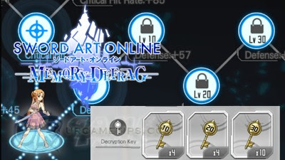 Sword Art Online: MD - Decryption Keys Drop and Farming Locations