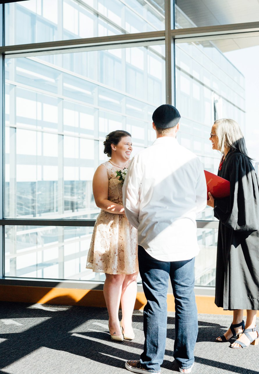 Bright and Airy Downtown Seattle Elopement by Something Minted Photography
