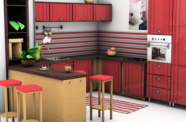 Dapur berpola garis