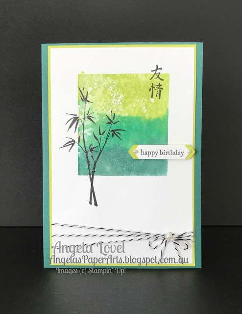 Stampin' Up! Artistically Asian birthday card by Angela Lovel, Angela's PaperArts