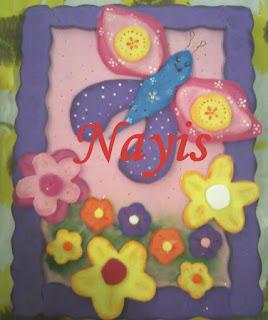 libreta de notas decorada en foami con mariposa termoformada