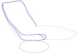 Cara menggambar Recliner (Sofa)