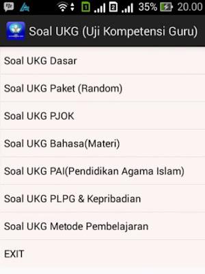 Latihan UKG 2016 di Android ini aplikasinya !!