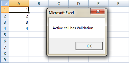 Check If Cell Has Data Validation With Vba Working Excel Macros