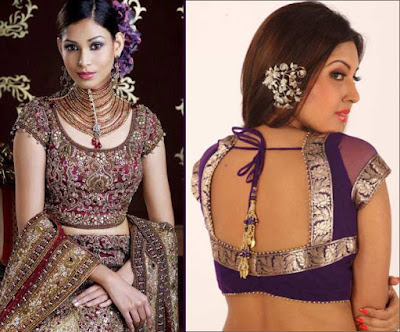 Indian-designer-embroidered-blouse-designs-for-plain-saree-7