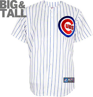Chicago Cubs Big and Tall White Pinstripe Home Jersey
