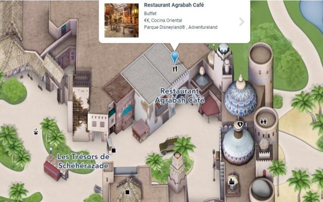 Localización del Restaurante Agrabah Café en Disneyland Paris