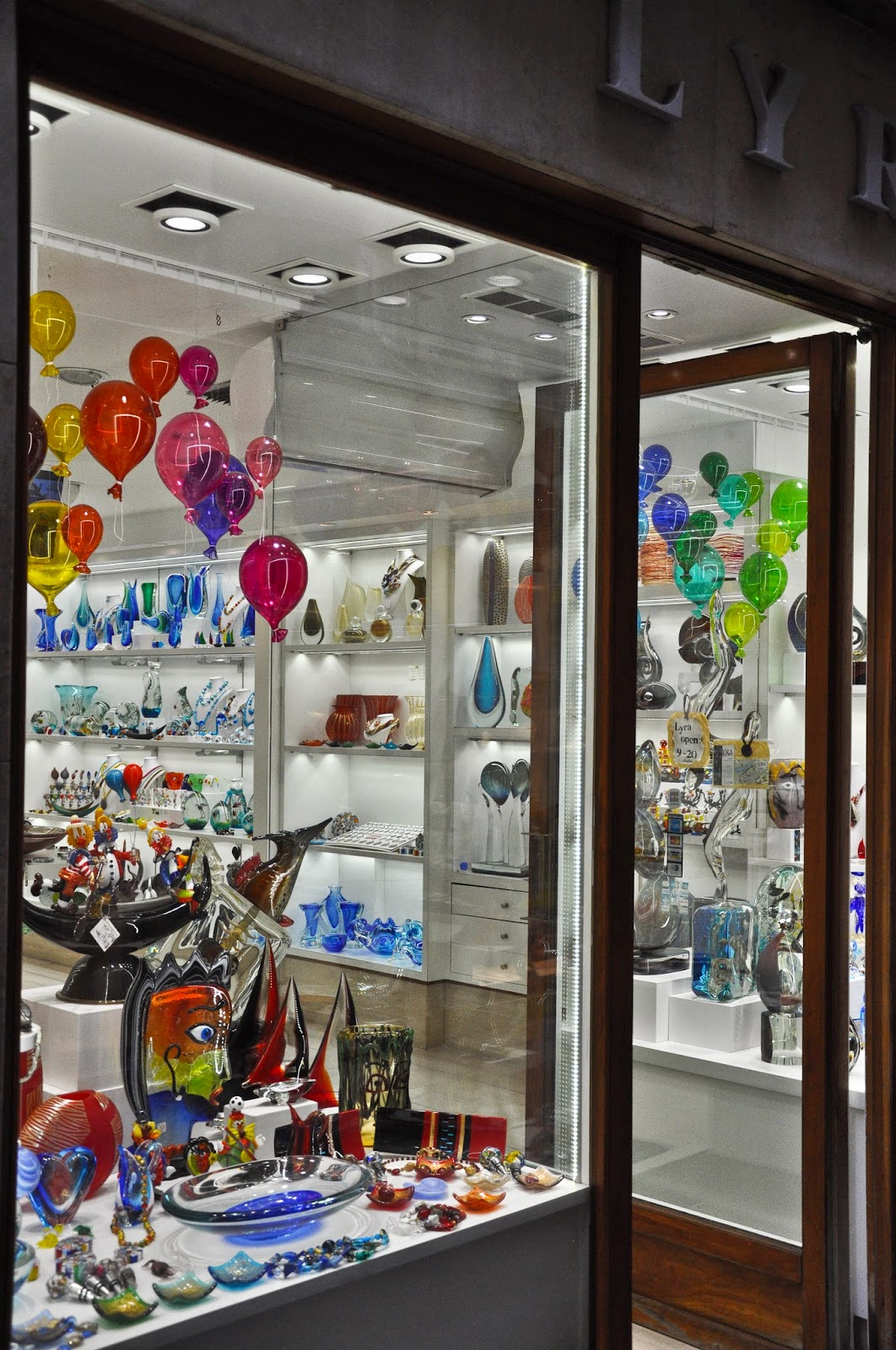 Murano glass shop in Venice