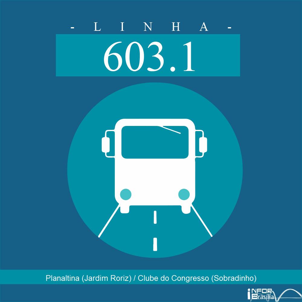 Horário de ônibus e itinerário 603.1 - Planaltina (Jardim Roriz) / Clube do Congresso (Sobradinho)