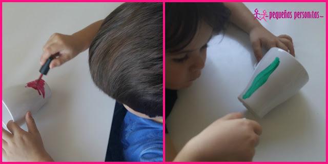 DIY, decorar tazas, esmalte de uñas, manualidades, manualidades con niños, handbox