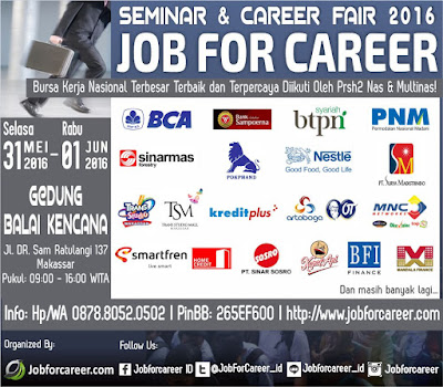 Job For Career Makassar Mei 2016
