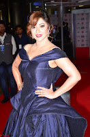 Payal Ghosh aka Harika in Dark Blue Deep Neck Sleeveless Gown at 64th Jio Filmfare Awards South 2017 ~  Exclusive 022.JPG