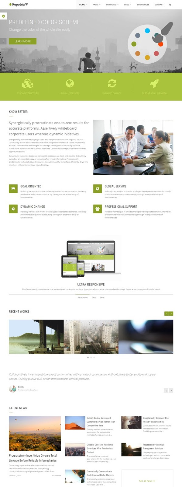 Best Multipurpose Bootstrap WordPress Theme