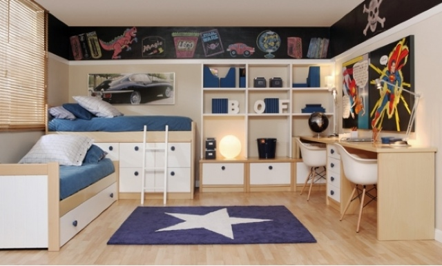 Camas en l for Dormitorio juvenil 2 camas